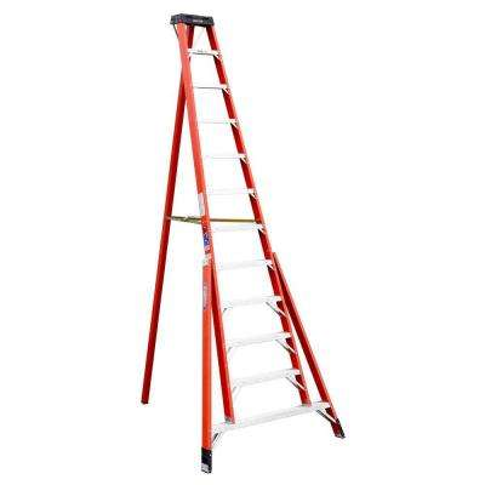 12 ft. Fiberglass Tripod Step Ladder with 300 lb. Load Capacity Type IA Duty Rating