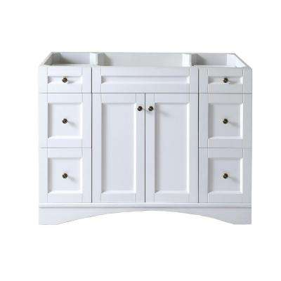 Elise 48 in. W Bath Vanity Cabinet Only in White
