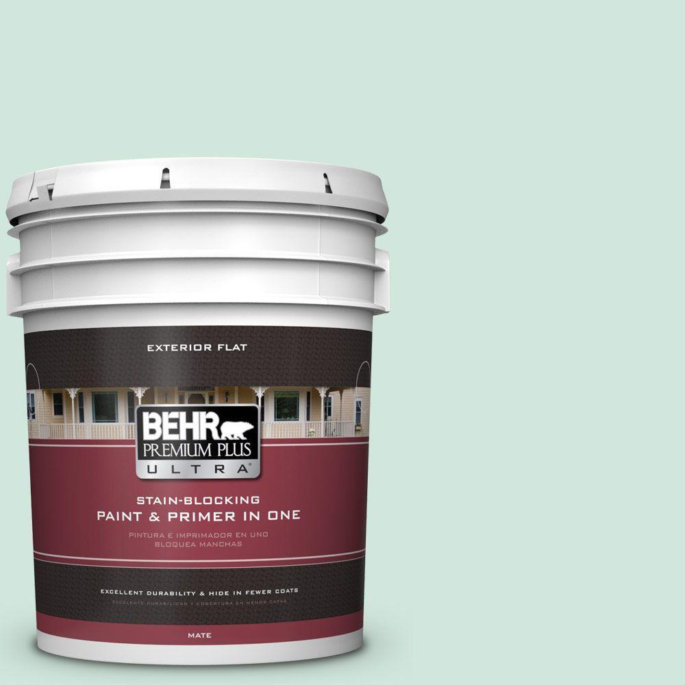 BEHR Premium Plus Ultra 5-gal. #M420-2 Green Aqua Flat Exterior Paint