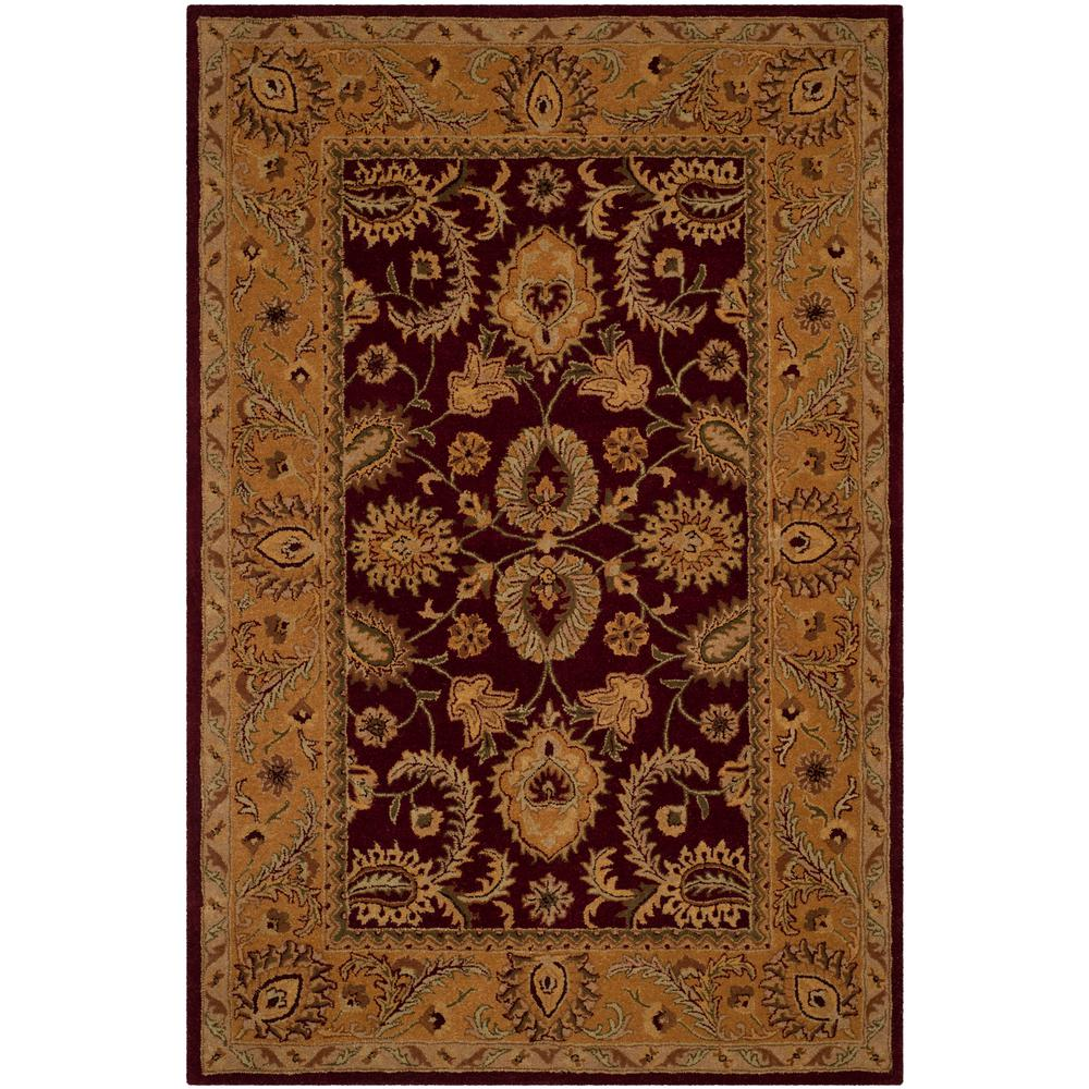 Safavieh Classic Burgundy/Gold 6 Ft. X 9 Ft. Area Rug