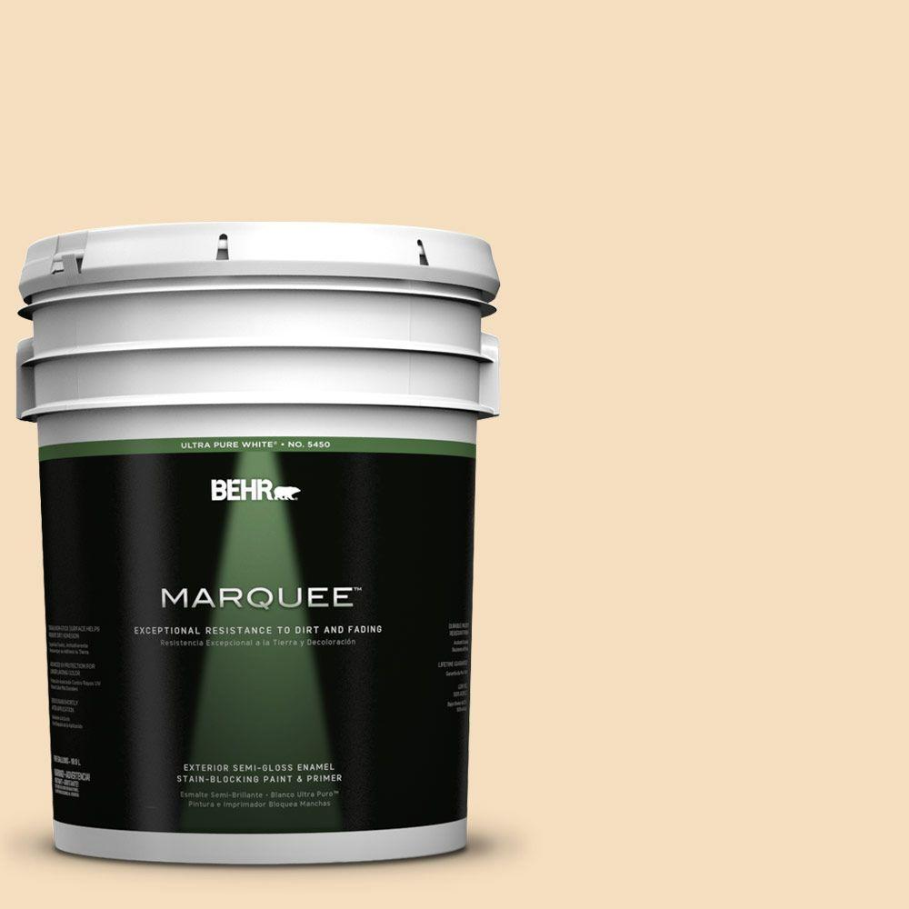 BEHR MARQUEE 5-gal. #320E-2 Cracked Wheat Semi-Gloss Enamel Exterior Paint