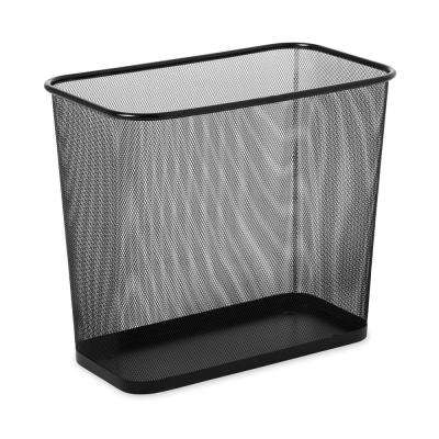 RCP 7.5 Gal. Steel Mesh Wastebasket in Black