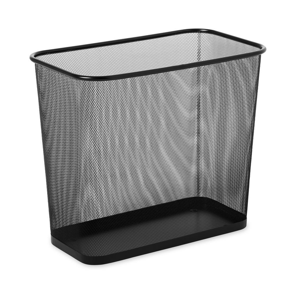 RCP 7.5 Gal. Steel Mesh Wastebasket in Black