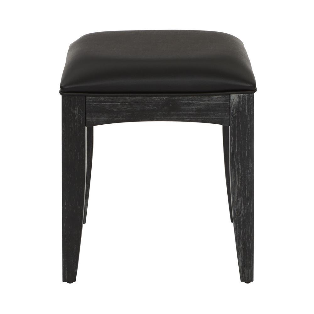 Farmhouse Basics Rustic Black Bench for Vanity