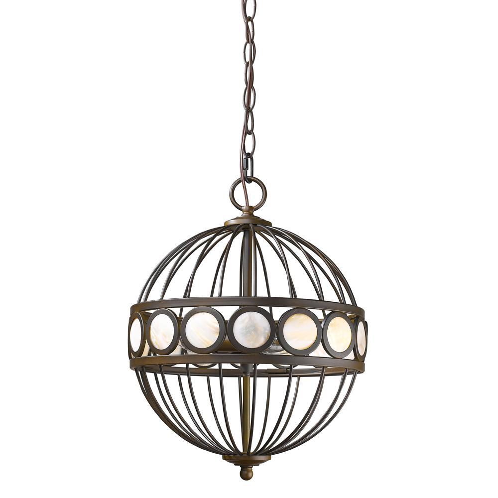 Aria 3-Light Indoor Oil Rubbed Bronze Chandelier