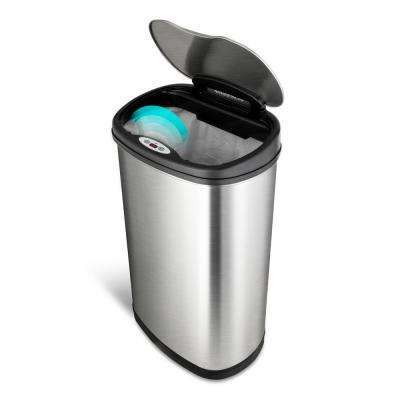 13.2 Gal. Hands-Free Infrared Motion Sensor Trash Can/Stainless Steel Trash  Cab