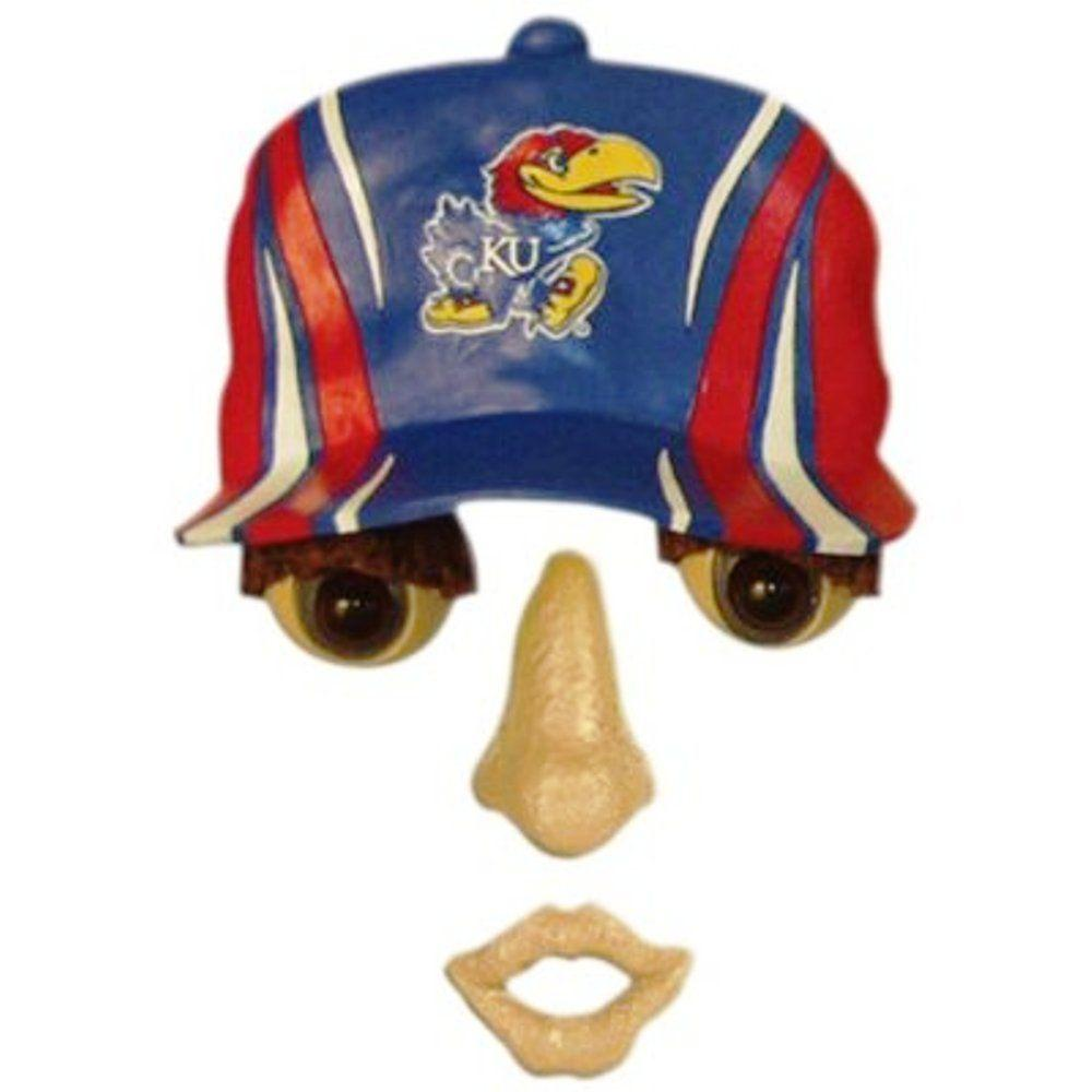 Team Sports America 14 in. x 7 in. Forest Face University of Kansas
