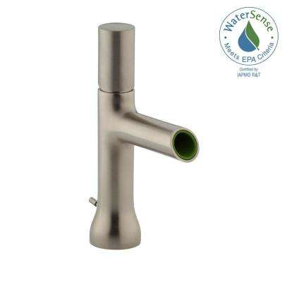 Toobi Single Hole Single Handle Low-Arc Water-Saving Bathroom Faucet in Vibrant Brushed Nickel