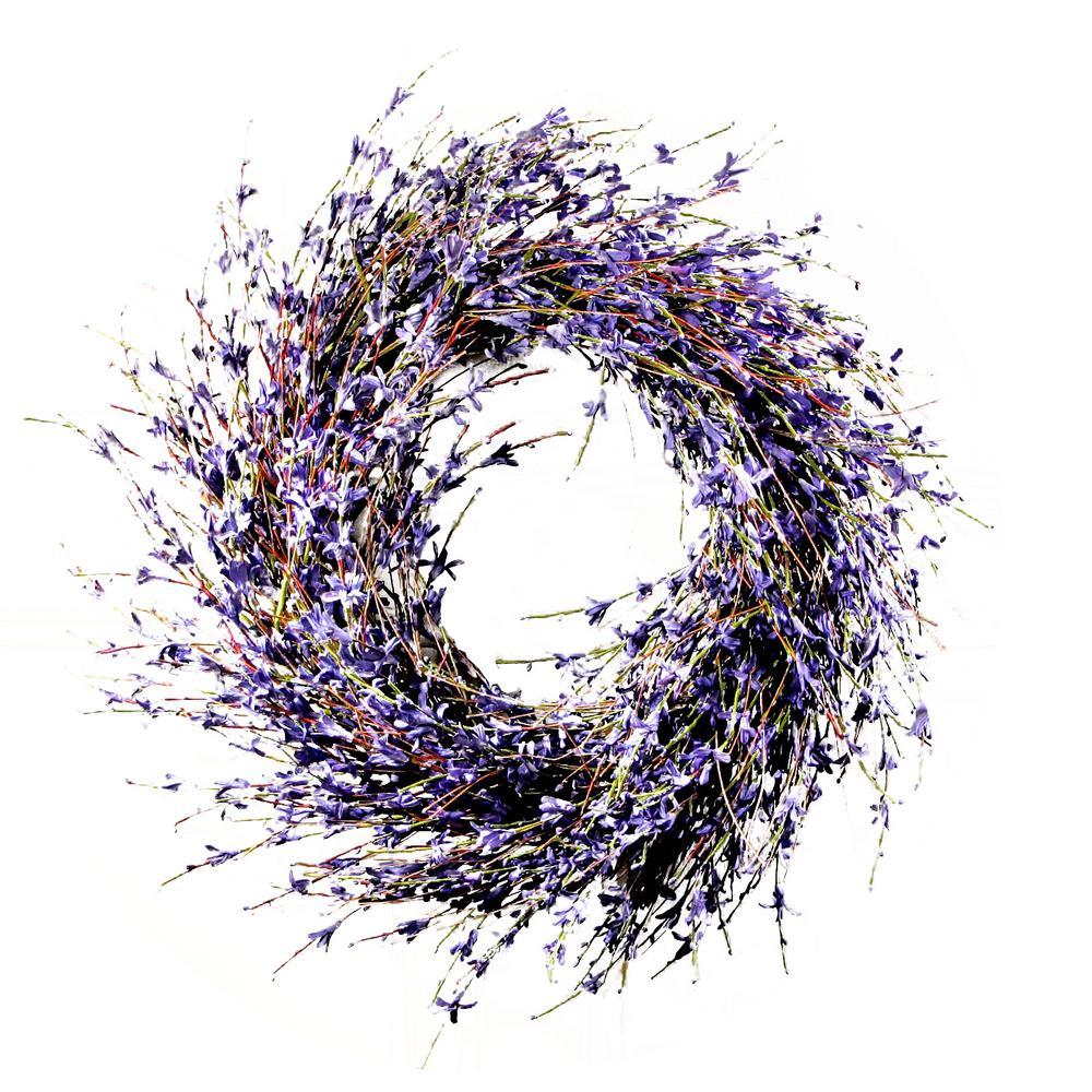 19.7 in. Dia Lavender-Inspired Purple Dried Door Wreath