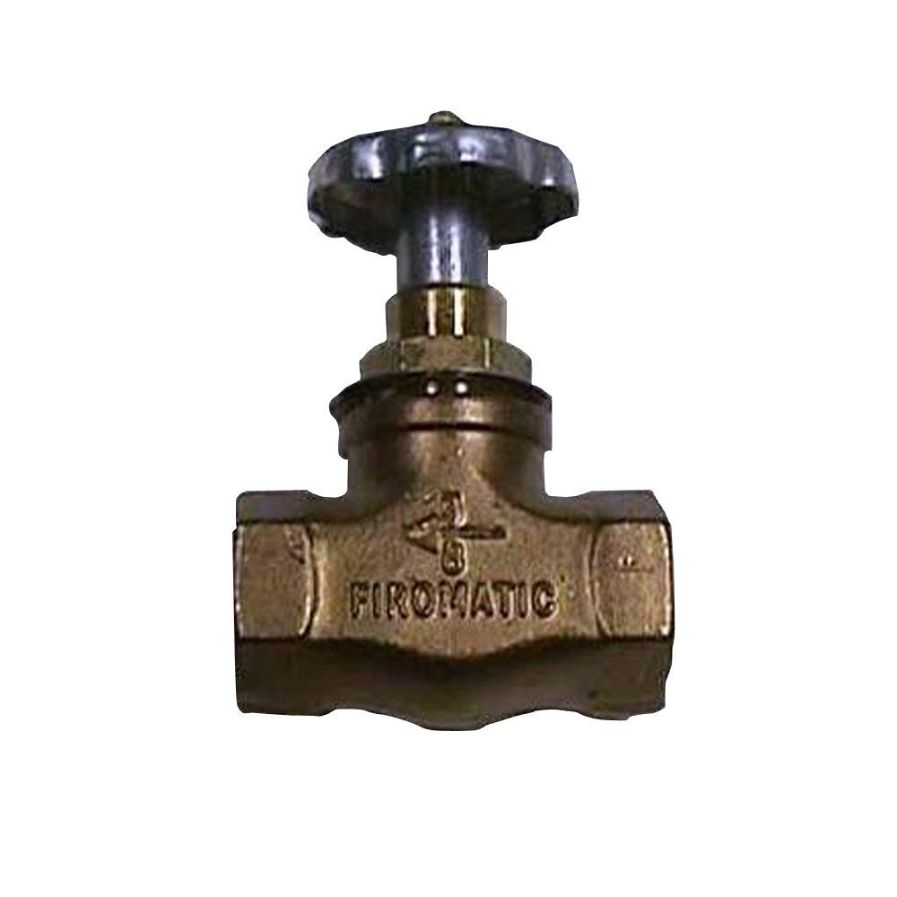 Firomatic 1-3/8 in. Brass Straight Valve
