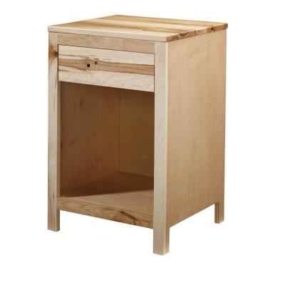 Jakob 1-Drawer Natural Rustic Maple Nightstand 27 in. x 18 in. x 16 in.