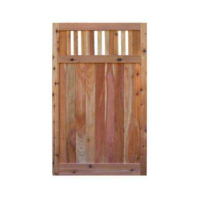 3.5 ft. H W x 6 ft. H H Western Red Cedar Flat Top Vertical Lattice Fence Gate