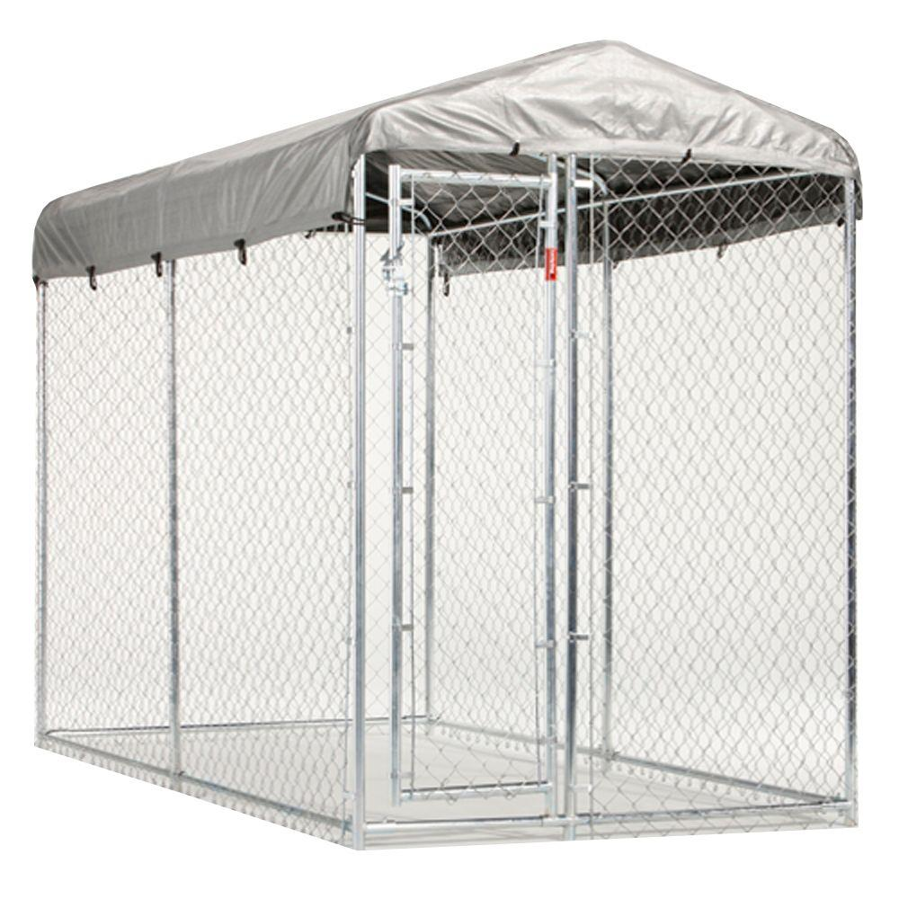 Lucky Dog 5 ft. x 10 ft. x 7 ft. Yard Guard Box Kennel