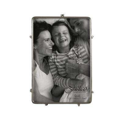 4 in. x 6 in. Franco Pewter Press Picture Frame (Set of 2)