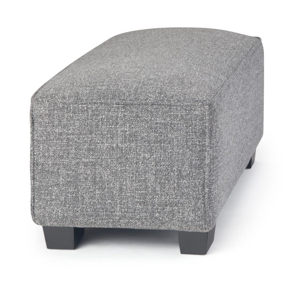 Remarkable Simpli Home Bainbridge 48 In Wide Smoke Grey Fabric Customarchery Wood Chair Design Ideas Customarcherynet