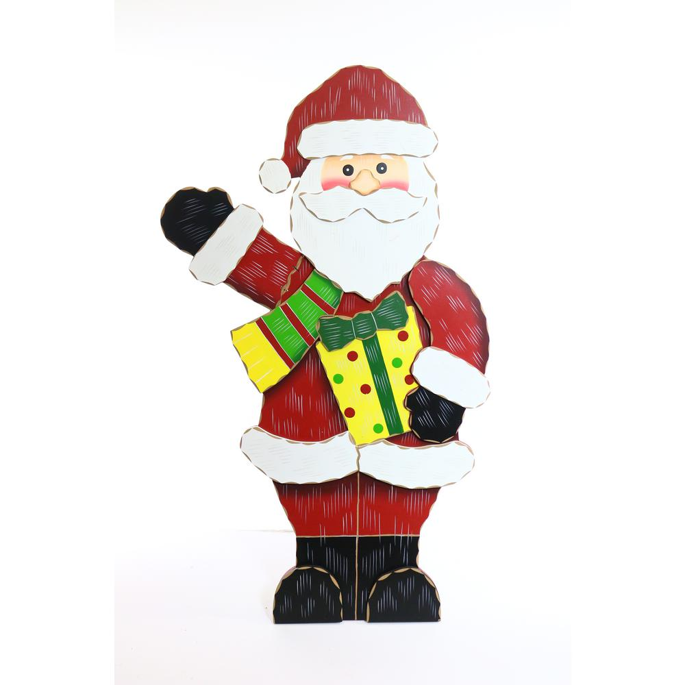 wooden christmas santa decor