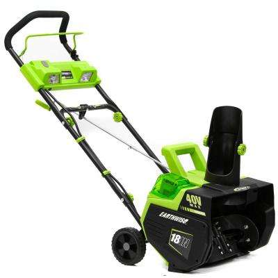 18 in. 40-Volt 4 Ah Cordless Electric Snow Thrower