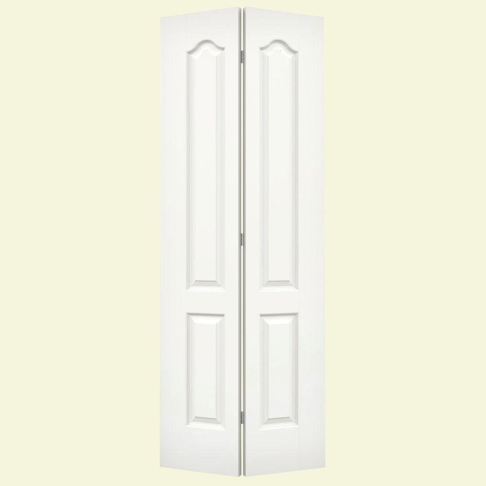 32 in. x 80 in. Princeton White Painted Smooth Molded Composite