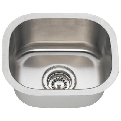 Stainless Steel 15 in. Undermount Bar Sink
