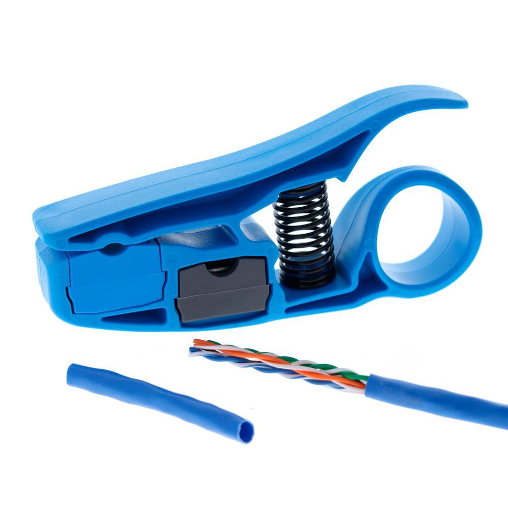 Blue//Gray Preppro Stripper Coax//Utp Cable Stripper