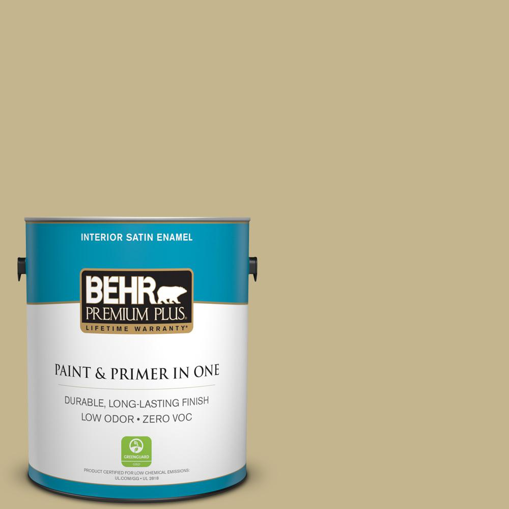 1-gal. #BIC-27 Modish Moss Satin Enamel Interior Paint