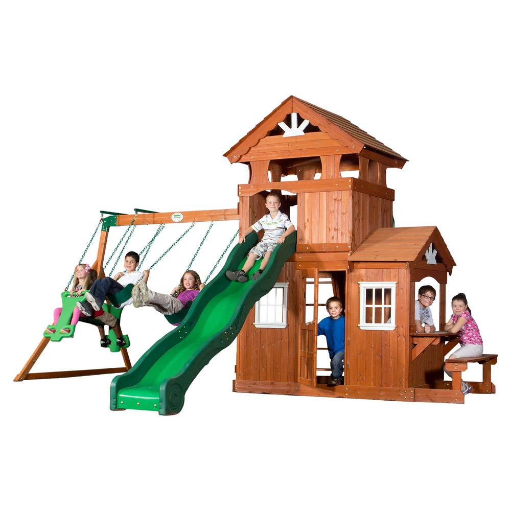 Backyard Discovery Shenandoah All Cedar Playset