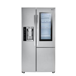 LG Electronics 26.0 cu. ft. Side by Side Smart Refrigerator with InstaView Door-in-Door and WiFi Enabled in Stainless Steel by LG Electronics