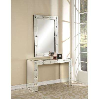 Hessa Silver and Mirrored Console Table