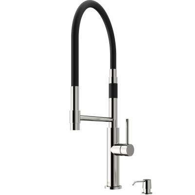 Norwood Magnetic Single-Handle Pull-Down Sprayer Kitchen Faucet with Soap Dispenser in Stainless Steel