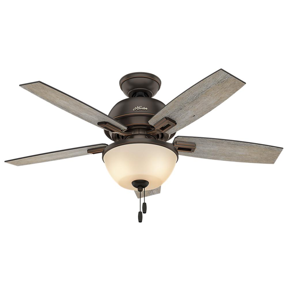 Hunter donegan 44 in led bowl indoor onyx bengal bronze for Hunter ceiling fan motor