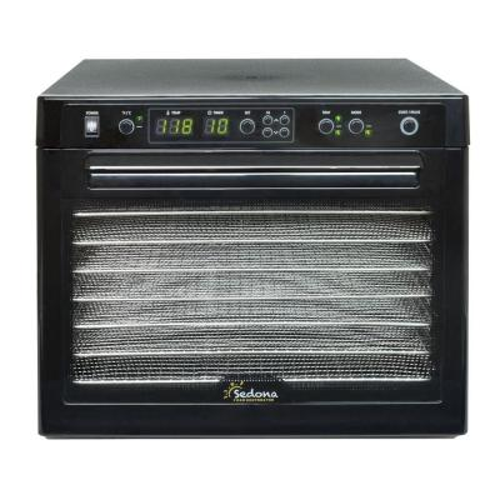 Sedona Rawfood 9-Tray Black Stainless Steel Food Dehydrator