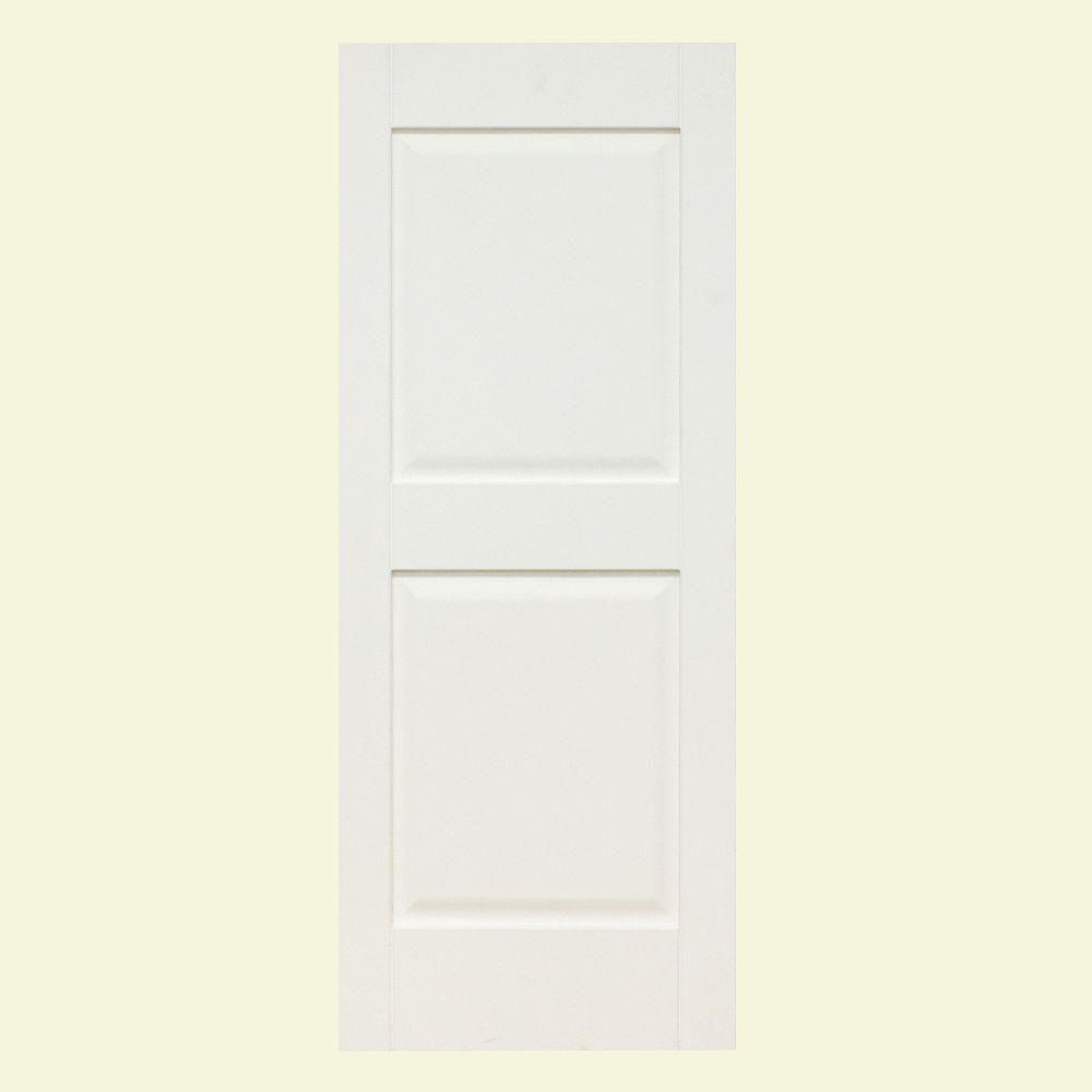 Home Fashion Technologies 14 in. x 78 in. Panel/Panel Primed Solid Wood Exterior Shutter
