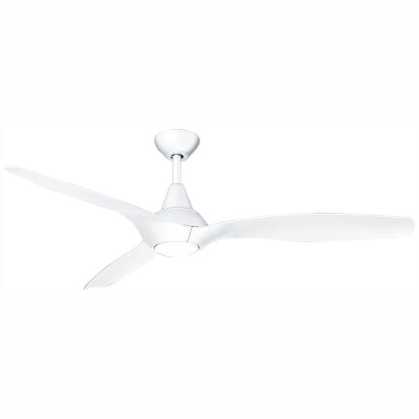 Tidal Breeze 56 in. LED Indoor White Ceiling Fan with Light Kit and Remote Control