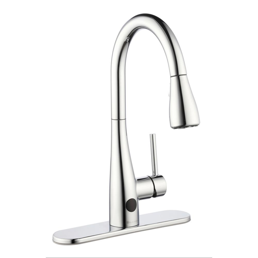 Nottely Touchless Single-Handle Pull-Down Kitchen Faucet with TurboSpray and FastMount in Chrome