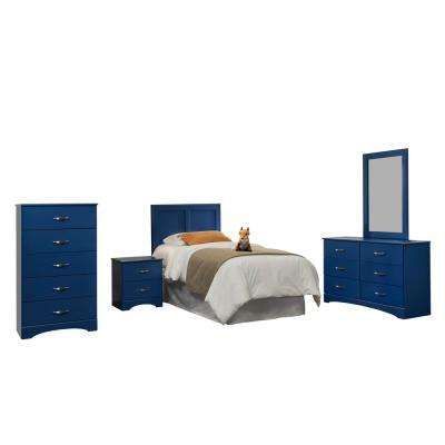 Royal Blue Collection 179K6T 6-Piece Royal BlueTwin Bedroom Set