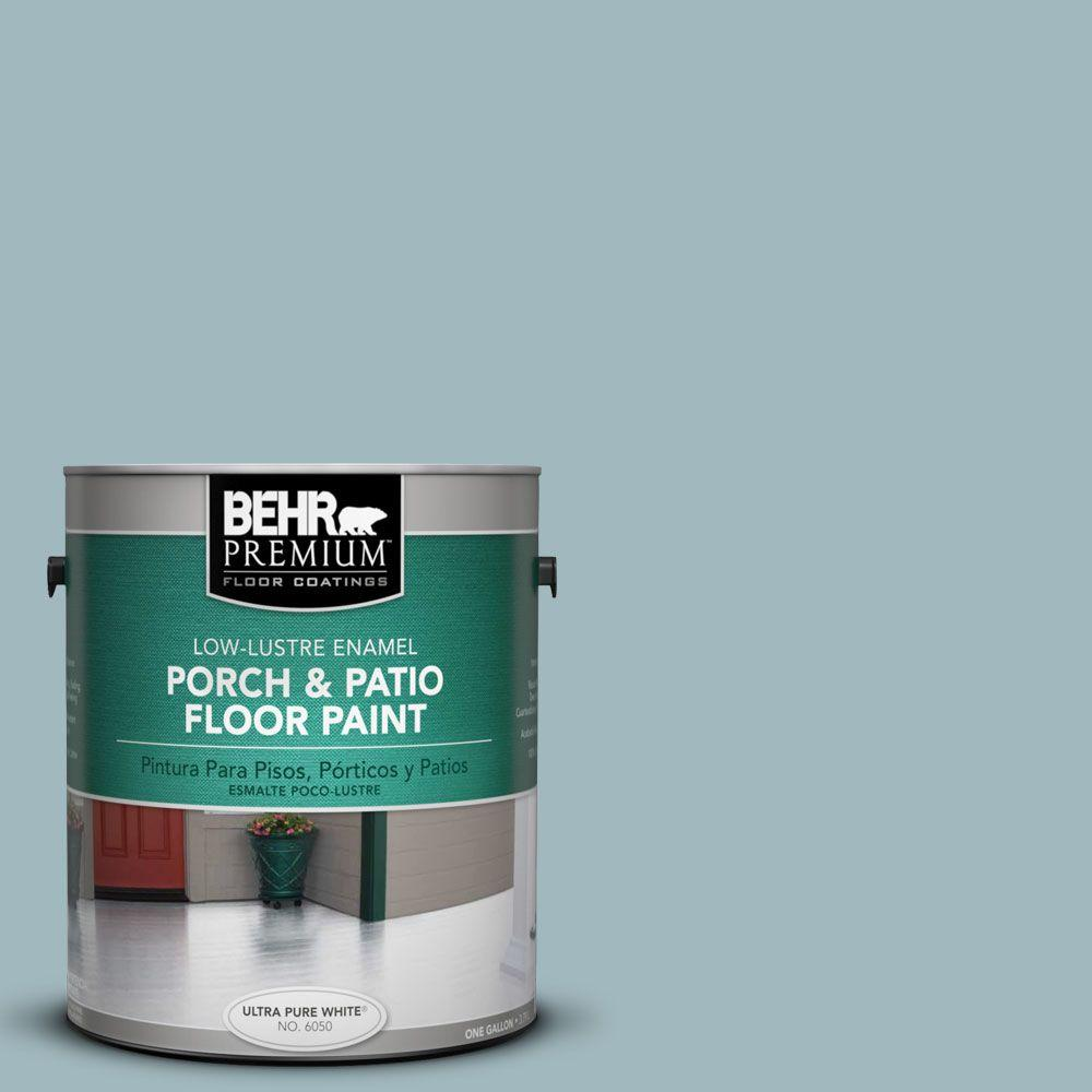 1 gal. #PFC-51 Nautical Blue Low-Lustre Interior/Exterior Porch and Patio Floor