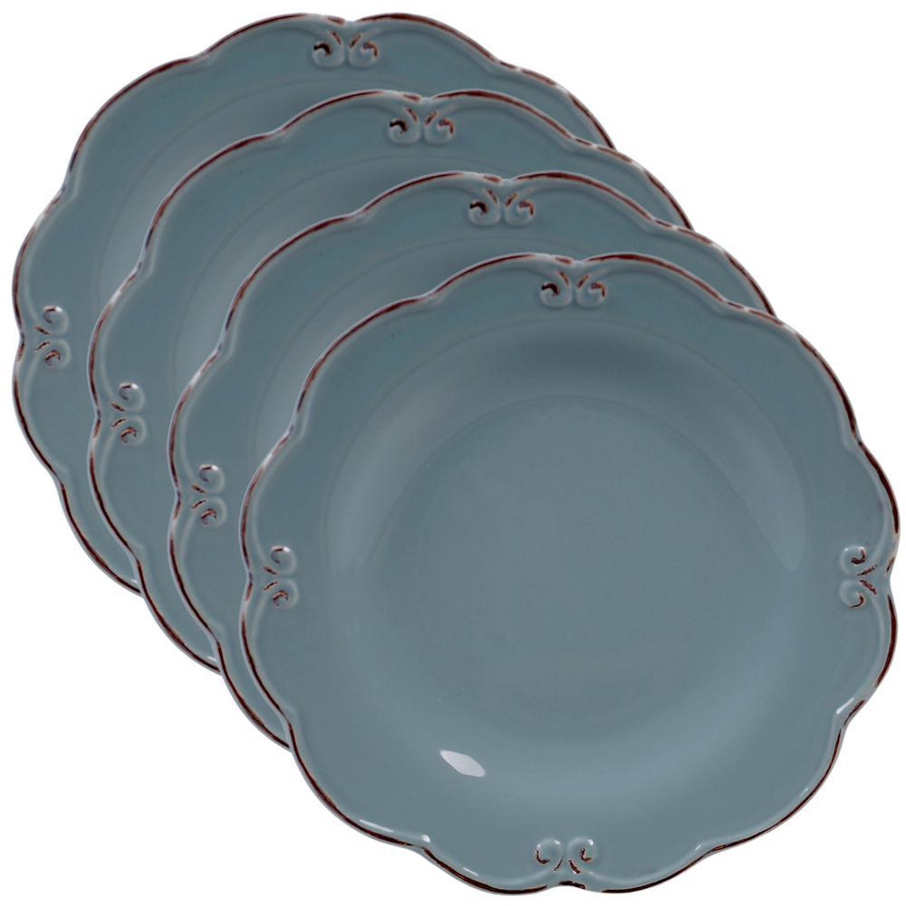Vintage Blue Salad Plate (Set of 4)