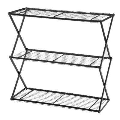 Exy 3-Tier Powder Coated Steel Tube Shelving in Black