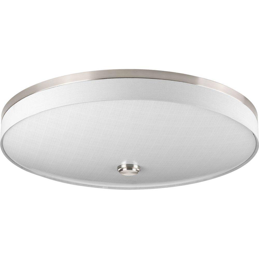 Weaver Collection 3-Light Brushed Nickel LED Flushmount
