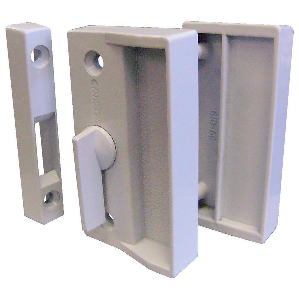 IDEAL Security Screen Door Latch Set in White