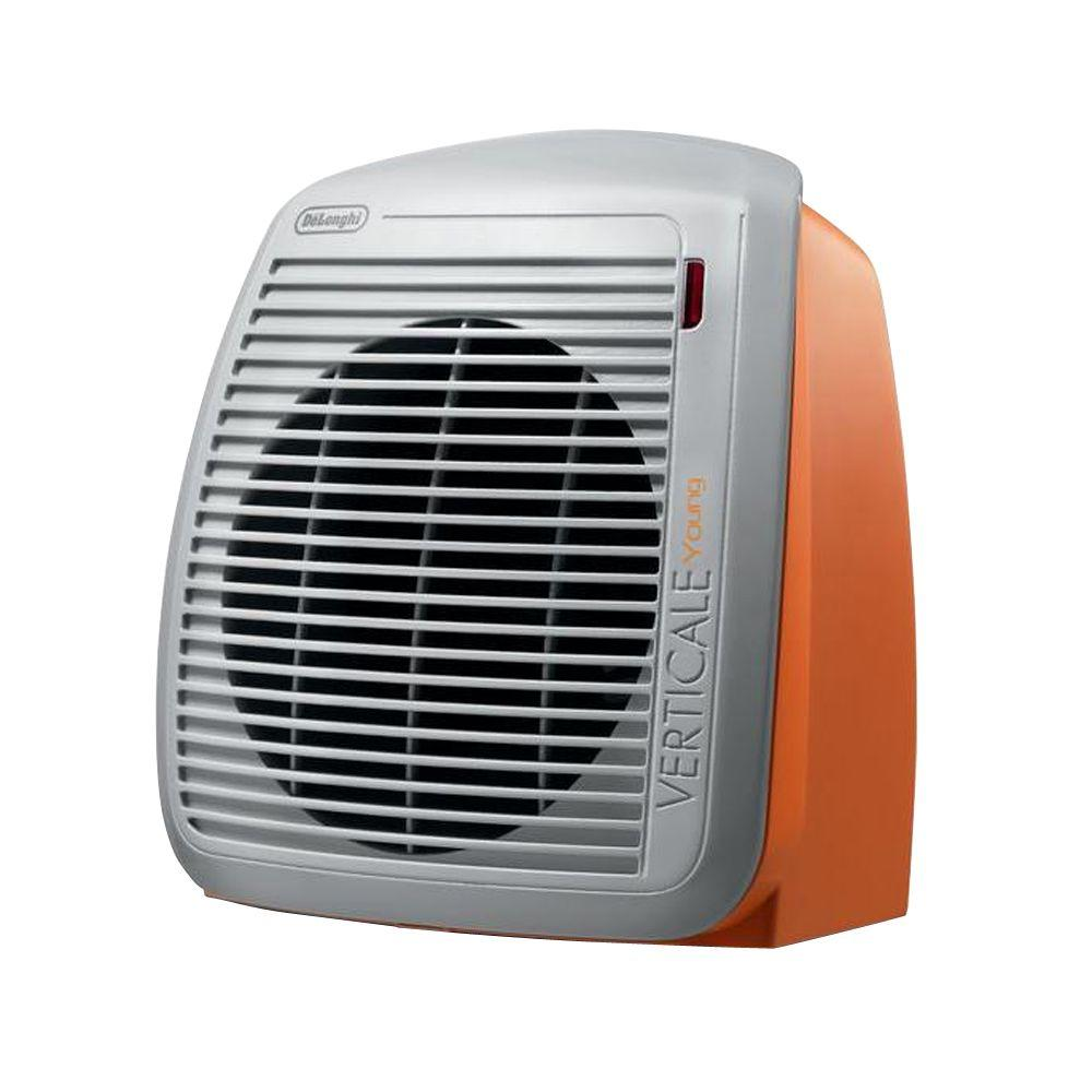 delonghi fan heater orange hvy1030or the home depot. Black Bedroom Furniture Sets. Home Design Ideas