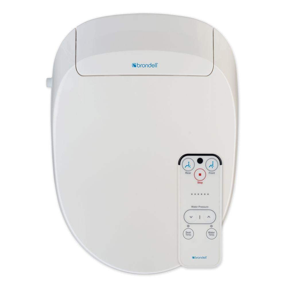 Brondell Swash 300 Advanced Bidet Seat for Elongated Toilet in White