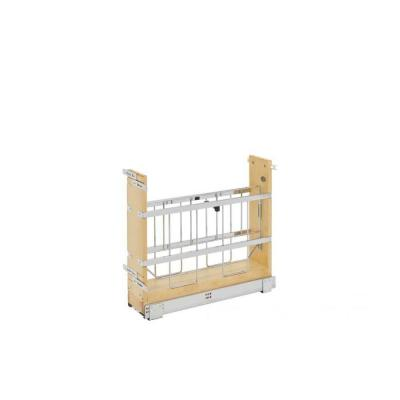 Hampton Bay Ready to Assemble Denver Shaker 5.9x19.5x21.6 in. Tray Divider Pullout Unit in Natural Wood, Light Brown Wood