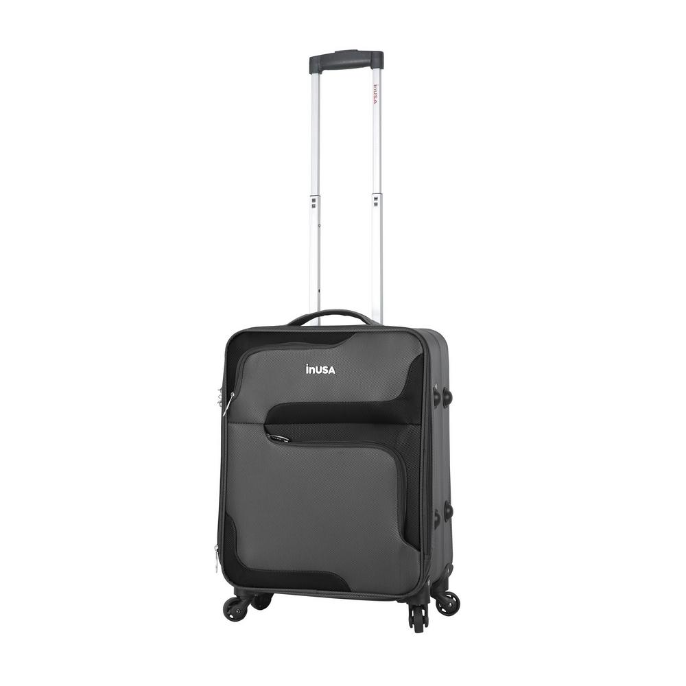 3D-City lightweight softside spinner 20 in. carry-on Grey