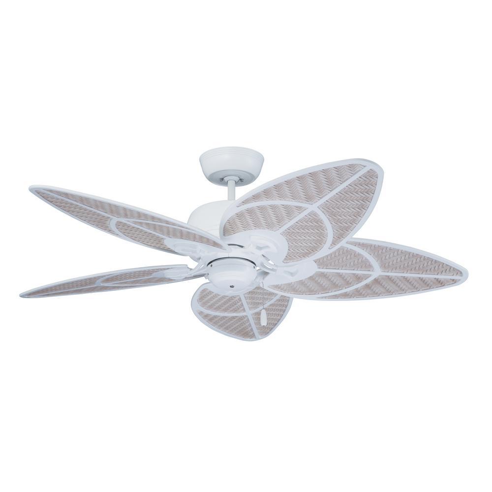 Batalie Breeze 52 in. Indoor / Outdoor Satin White Ceiling Fan