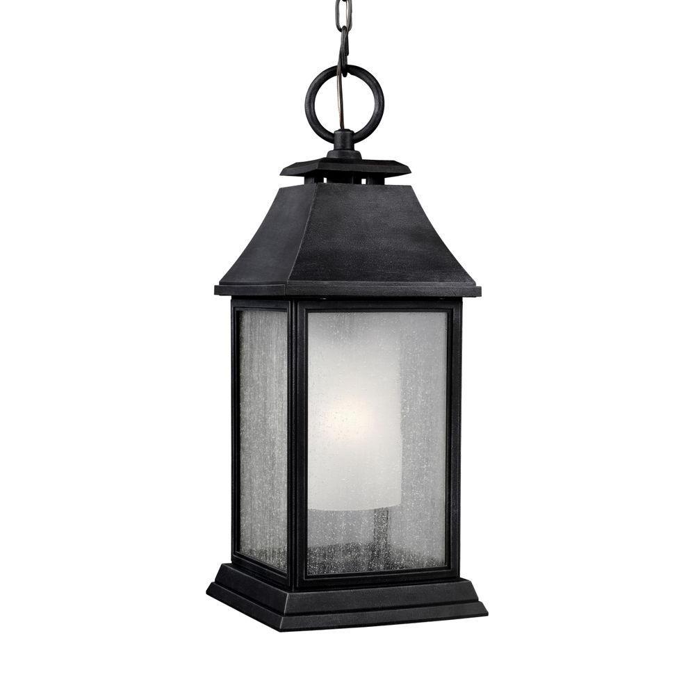 Feiss Shepherd 1-Light Dark Weathered Zinc Outdoor Pendant