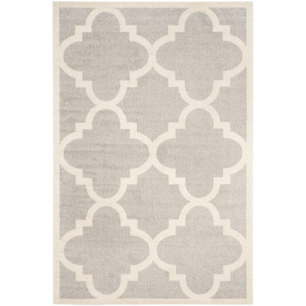 Amherst Light Gray/Beige 5 ft. x 8 ft. Indoor/Outdoor Area Rug