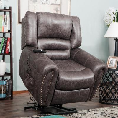 Lift Chairs for Elderly, Heavy-Duty Power Lift Electric Recliner Chair with Remote Control & 2 Castors (Smoky Brown)
