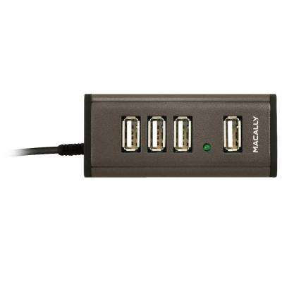 Mini 4-Port USB 2.0 Hub with AC Adaptor