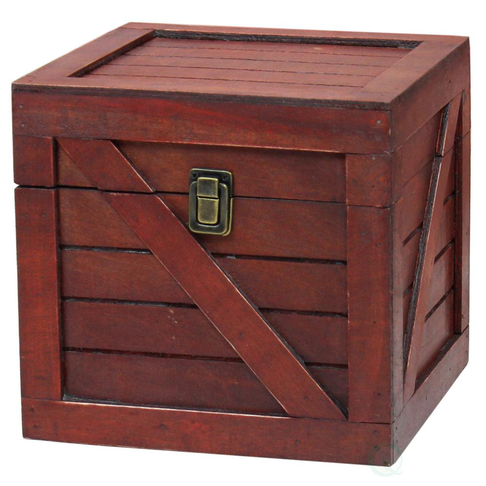 Vintiquewise wooden stackable treasure chest cargo crate style vintiquewise wooden stackable treasure chest cargo crate style cherry write a review publicscrutiny Image collections